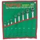 GAAA0604 Toptul  набор накидных ключей 8-19мм (угол 75°)  6ед.