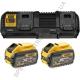 Зарядное устройство и 2 аккумулятора XR FLEXVOLT DCB547 9Ач DeWALT DCB132X2 (США/Чехия)