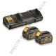 Зарядное устройство + 2 аккумулятора XR FLEXVOLT DeWALT DCB132T2 (США/Чехия)